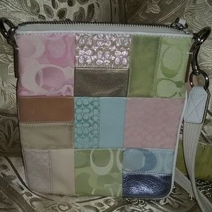COACH PATCHWORK PASTEL COLORED CROSS-BODY BAG!